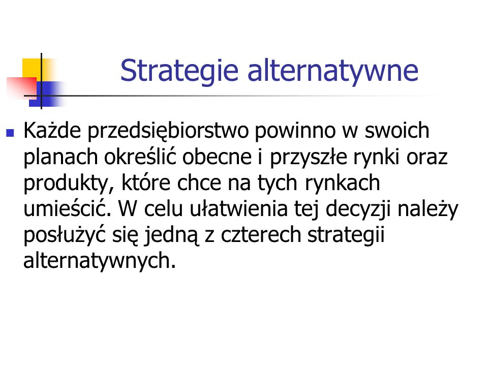 Strategie alternatywne