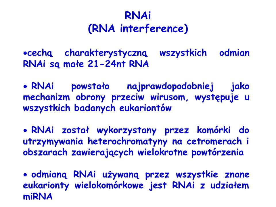 RNAi (RNA interference)