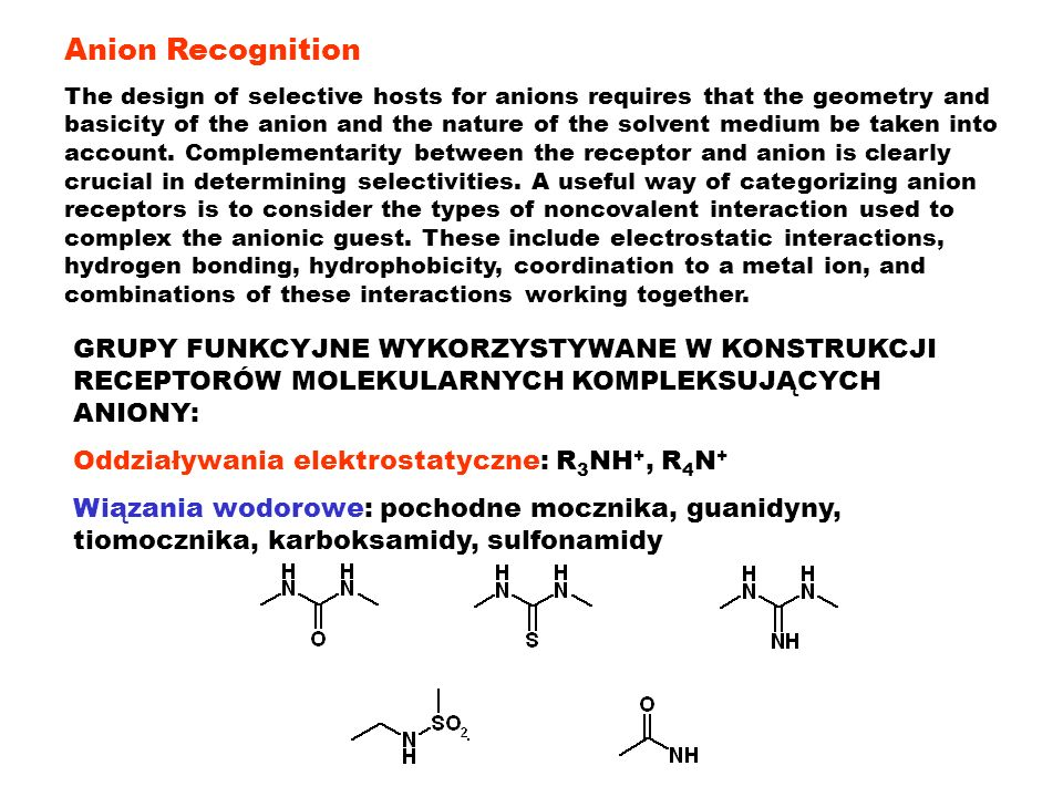 Anion Recognition