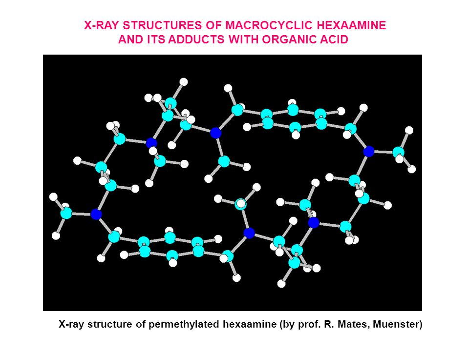 X-RAY STRUCTURES OF MACROCYCLIC HEXAAMINE