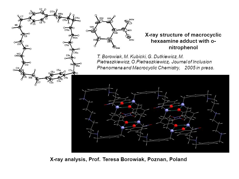 X-ray structure of macrocyclic hexaamine adduct with o-nitrophenol