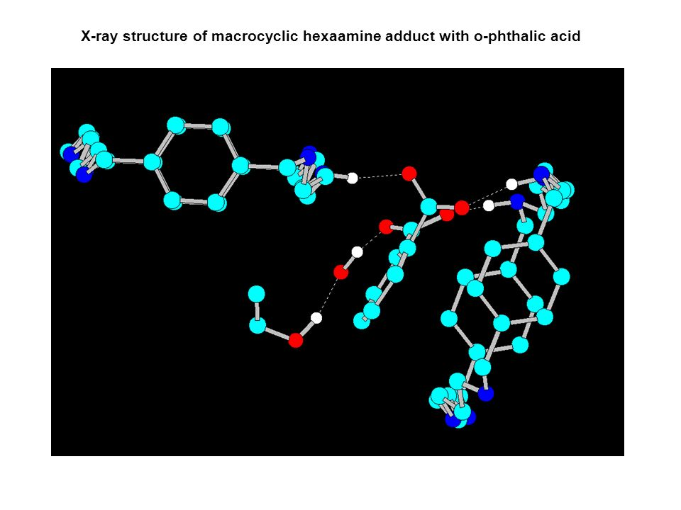 X-ray structure of macrocyclic hexaamine adduct with o-phthalic acid
