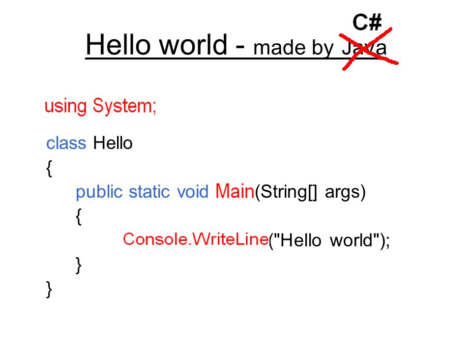 Hello world - made by Java