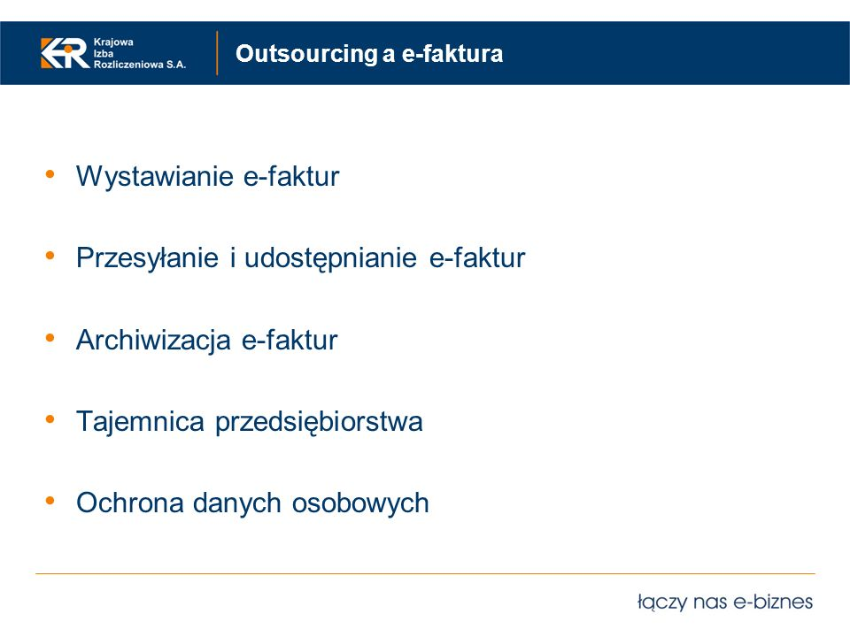 Outsourcing a e-faktura