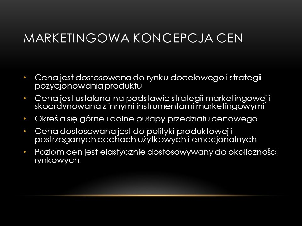 MARKETINGOWA KONCEPCJA CEN