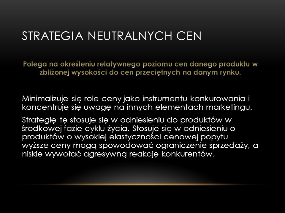 Strategia neutralnych cen