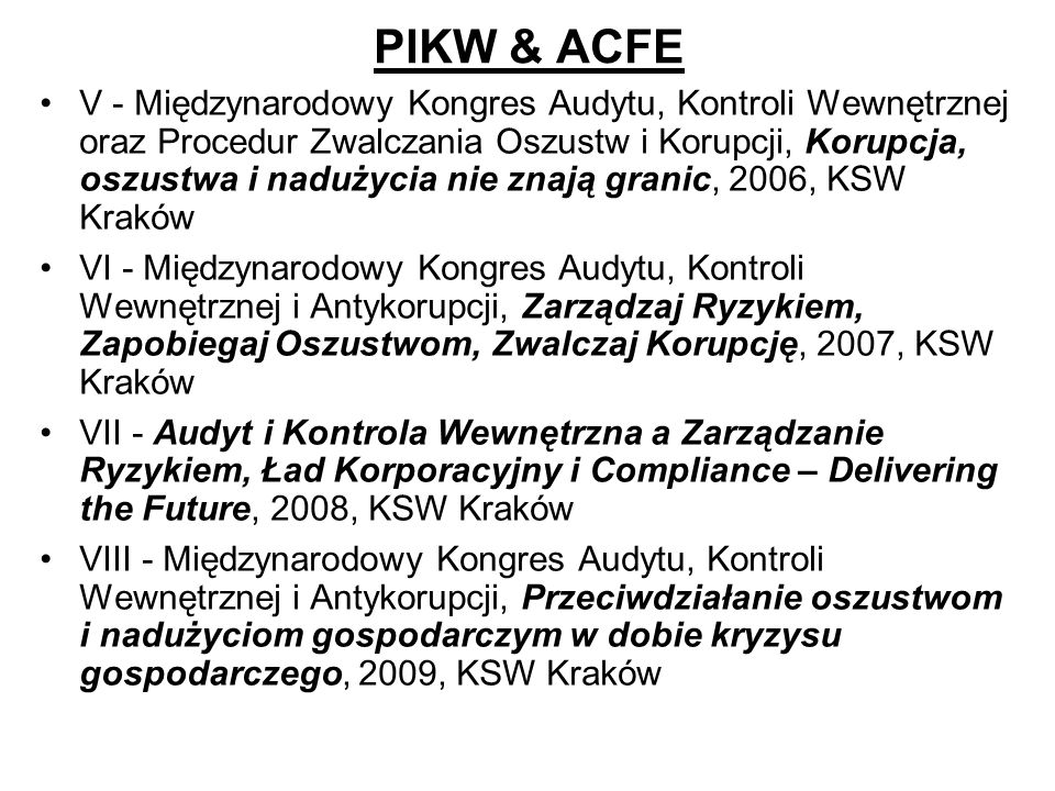 PIKW & ACFE