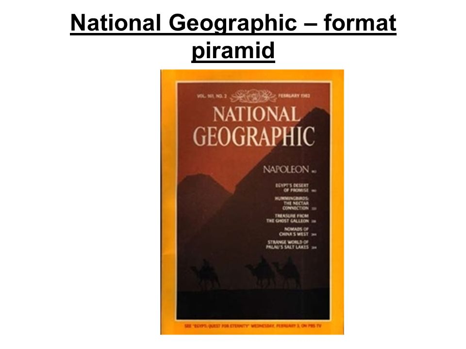 National Geographic – format piramid