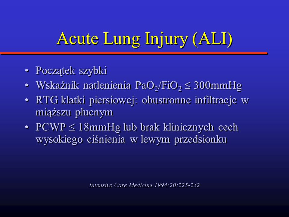 Acute Lung Injury (ALI)