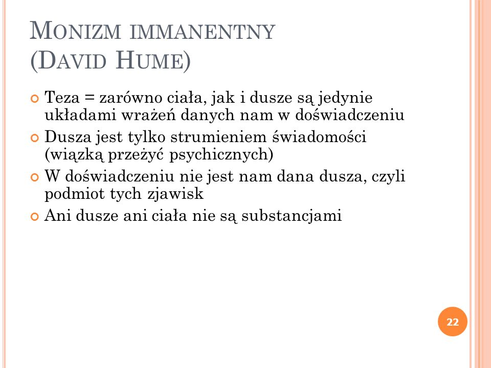 Monizm immanentny (David Hume)