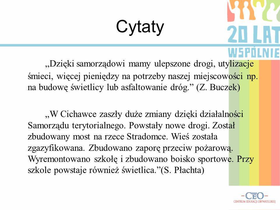 samorząd cytaty Publiczna Szkoła Podstawowa w Cichawce   ppt pobierz samorząd cytaty