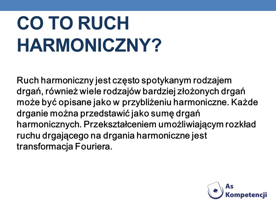 Co to ruch harmoniczny