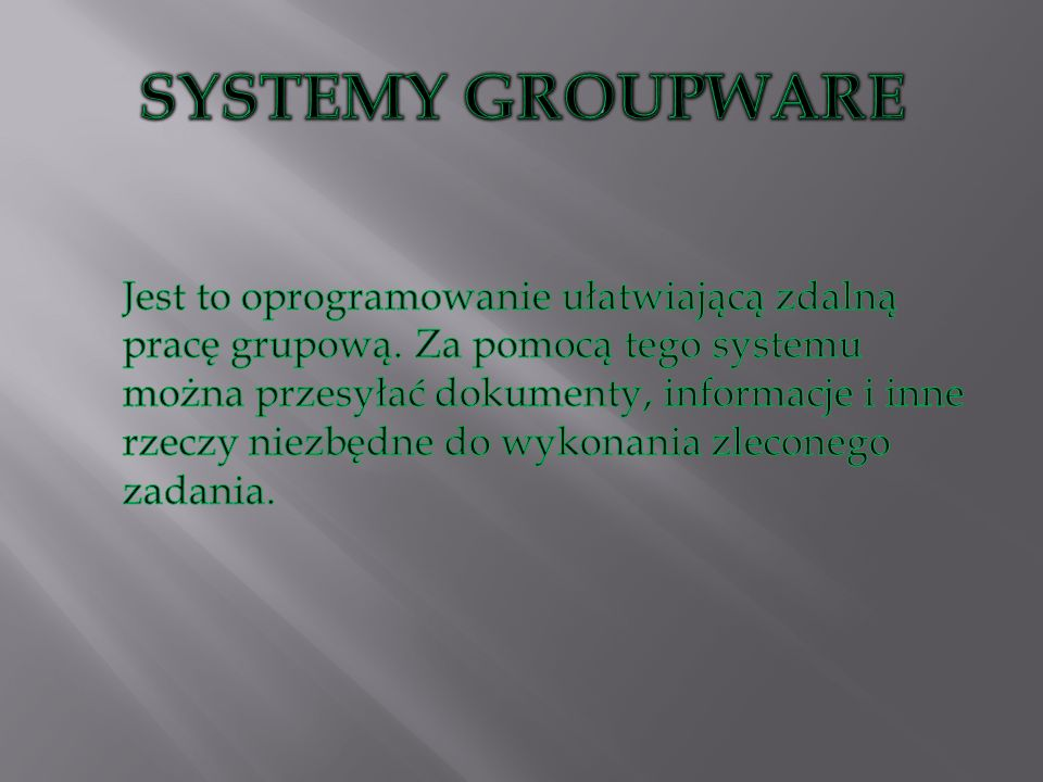SYSTEMY GROUPWARE