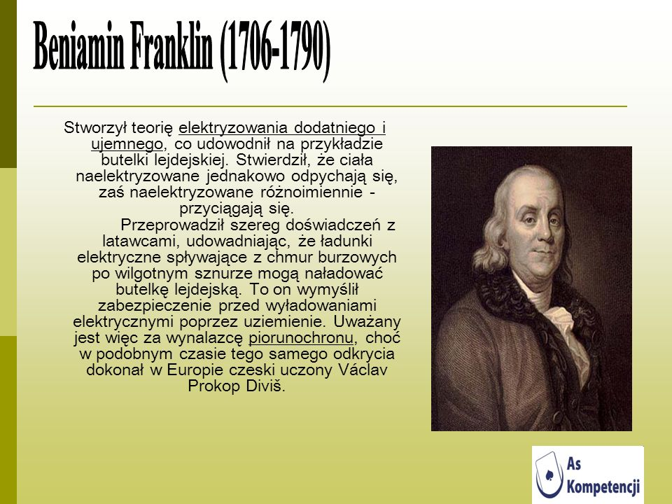 Beniamin Franklin (1706-1790)