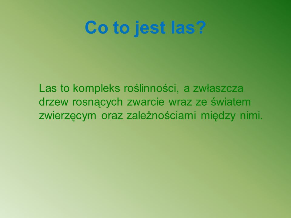 Co to jest las.