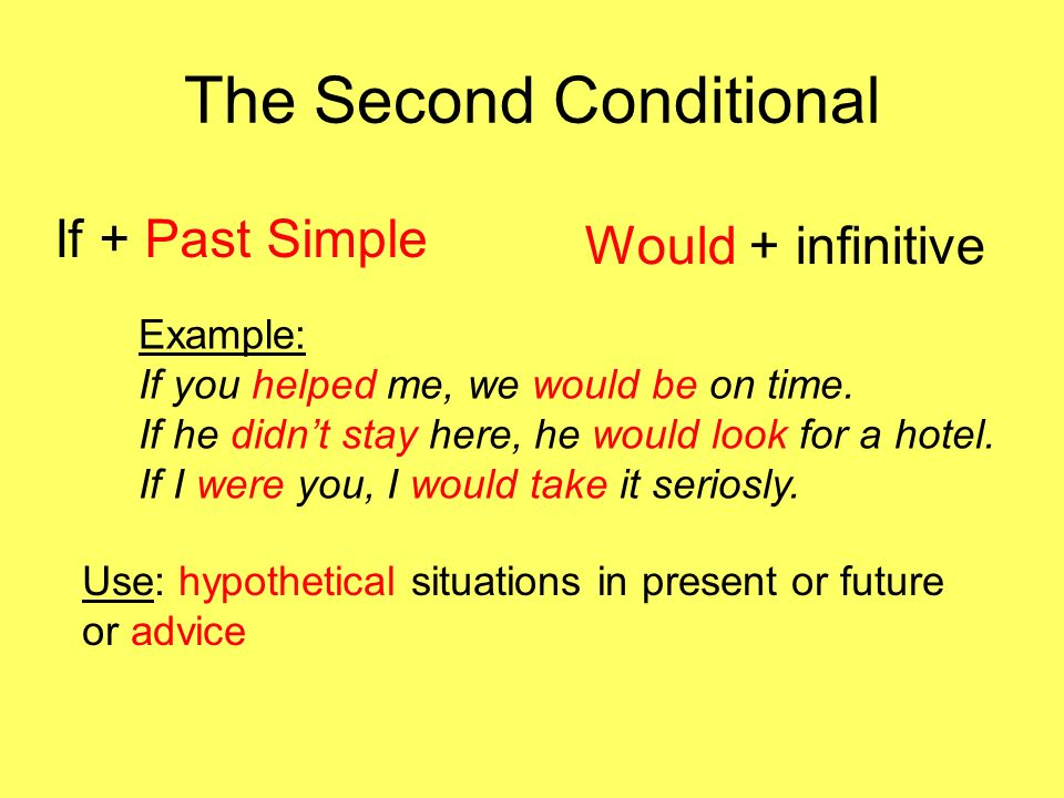 The Second Conditional