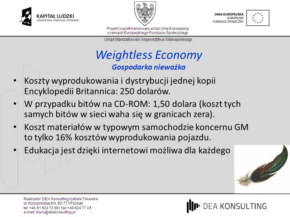Weightless Economy Gospodarka nieważka