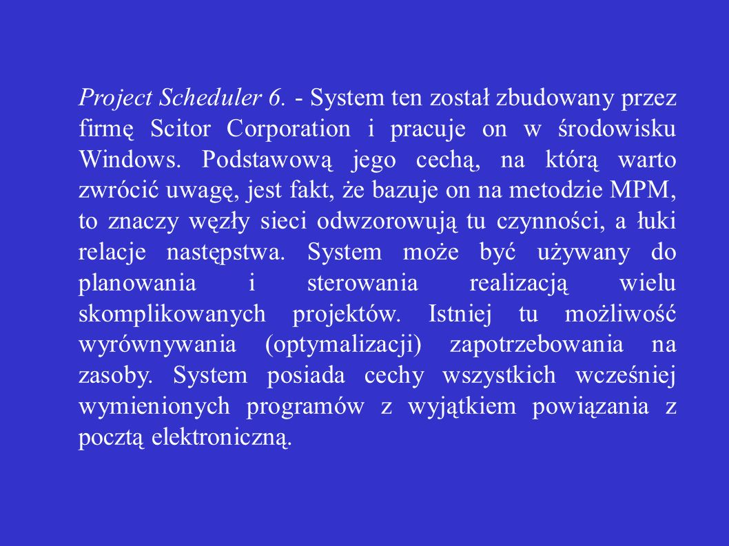 Project Scheduler 6.