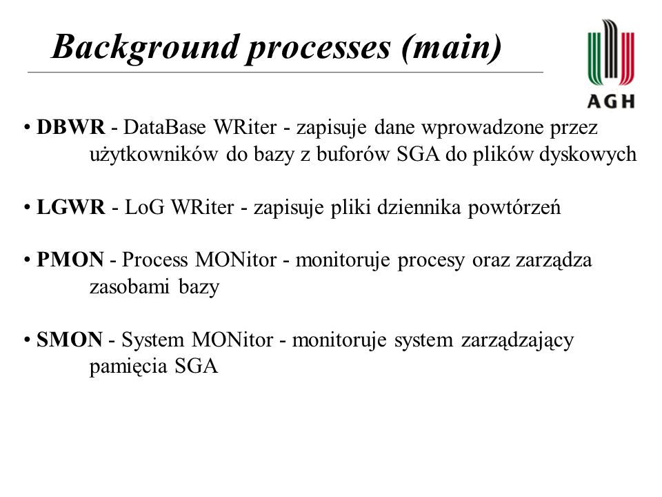 Background processes (main)