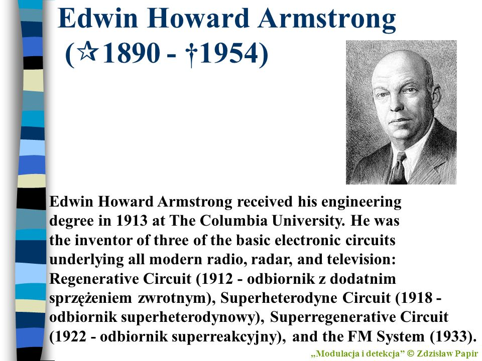 Edwin Howard Armstrong (1890 - †1954)