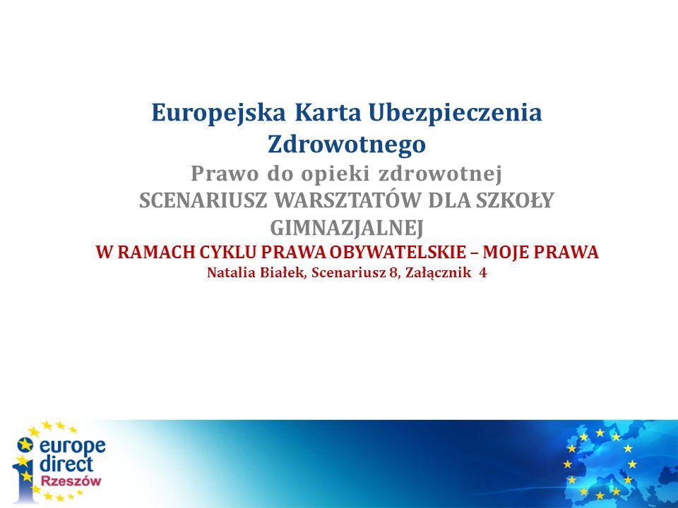 Karta Ubezpieczenia Europa.Europejska Karta Ubezpieczenia Zdrowotnego Prawo Do Opieki