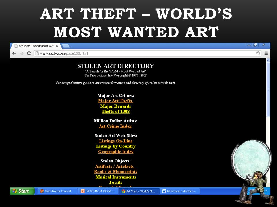 ART THEFT – WORLD'S MOST WANTED ART