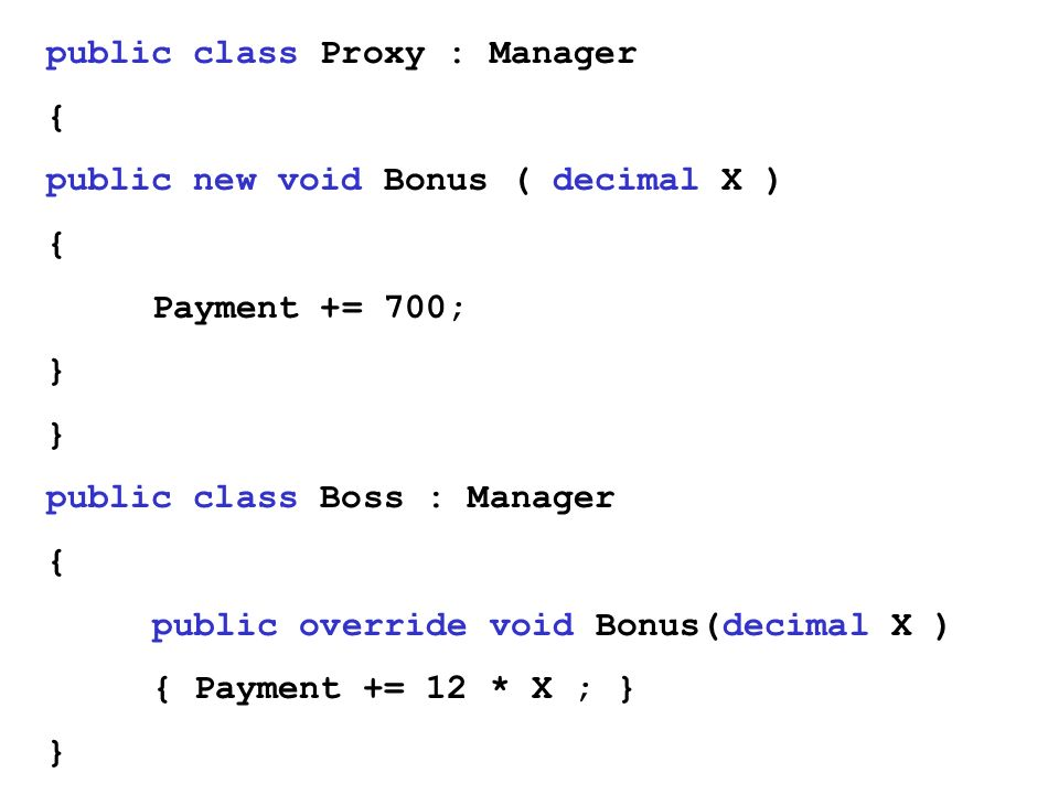 public class Proxy : Manager