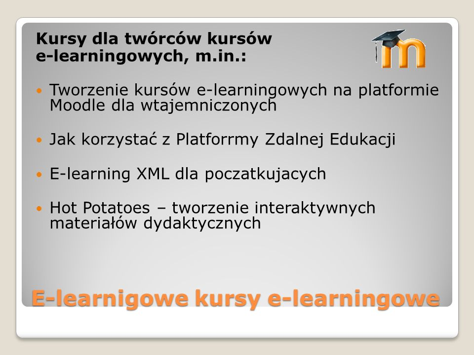 E-learnigowe kursy e-learningowe