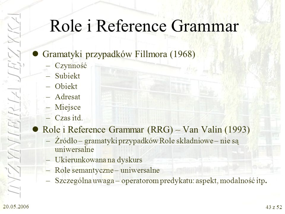 Role i Reference Grammar