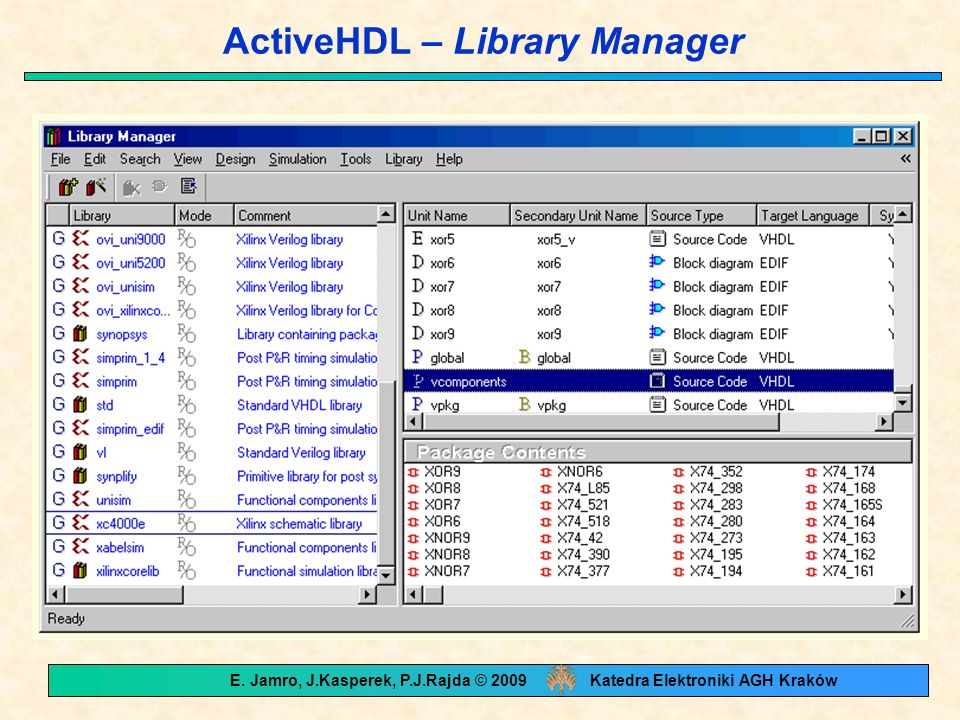 ActiveHDL – Library Manager