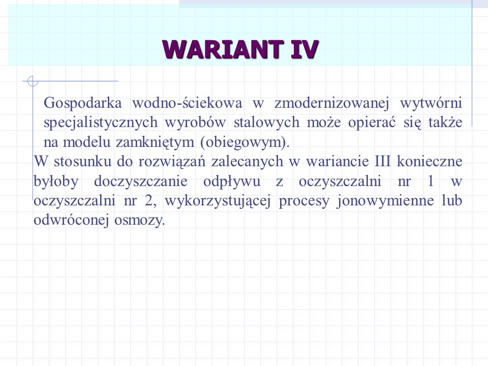 WARIANT IV