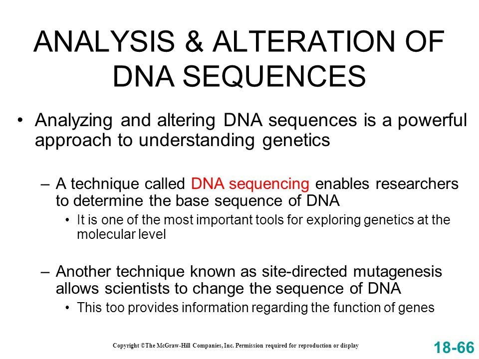 ANALYSIS & ALTERATION OF DNA SEQUENCES
