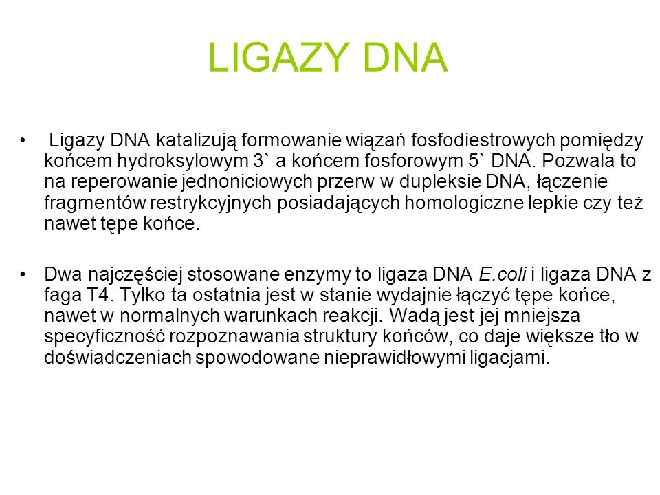 LIGAZY DNA