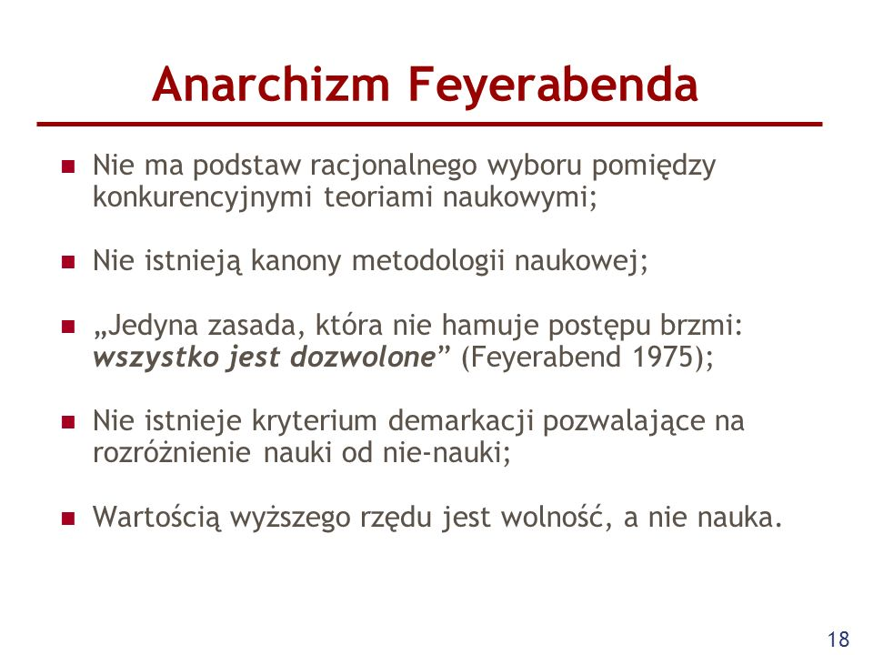 Anarchizm Feyerabenda