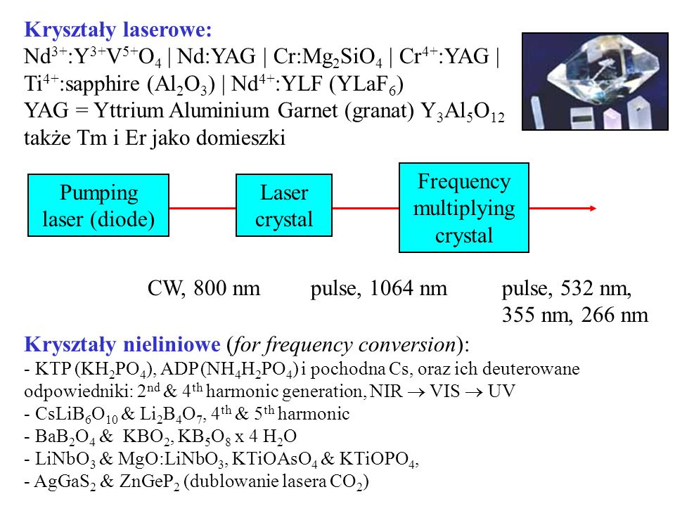 Frequency multiplying crystal