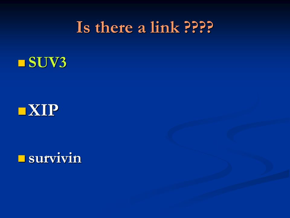 Is there a link SUV3 XIP survivin