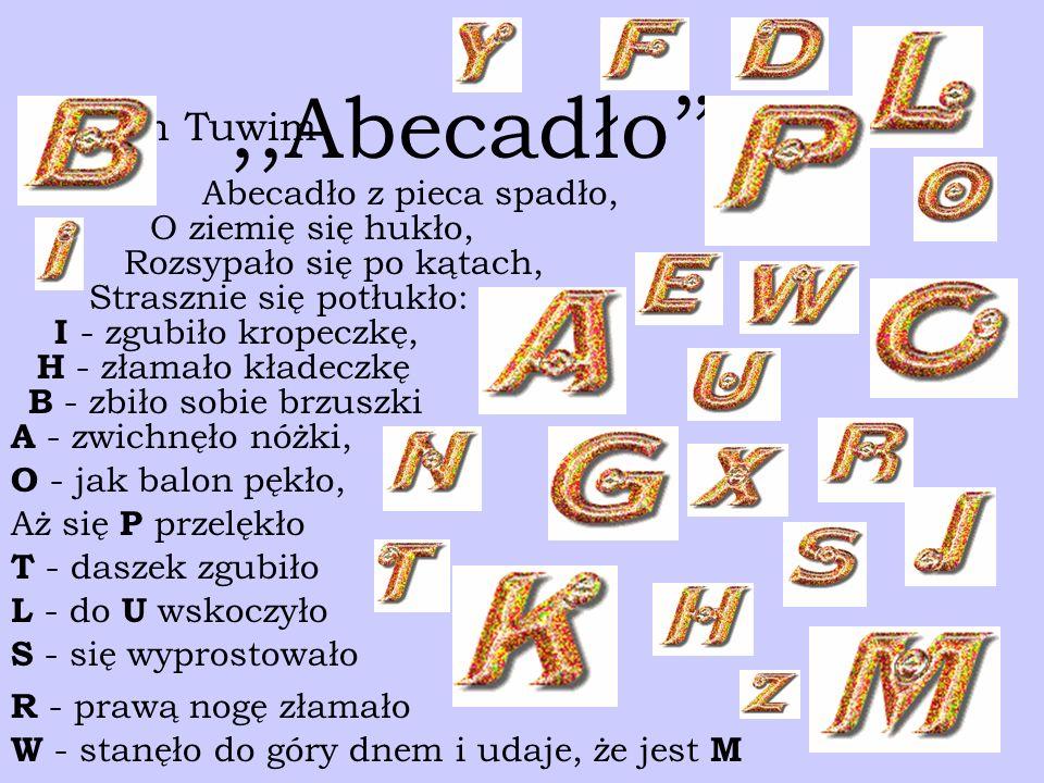 Abecadło Prezentacja Opracowana Przez Agatę łaszkiewicz