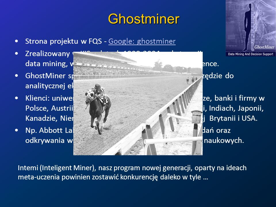 Ghostminer Strona projektu w FQS - Google: ghostminer