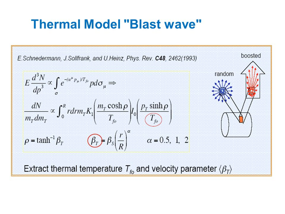 Thermal Model Blast wave