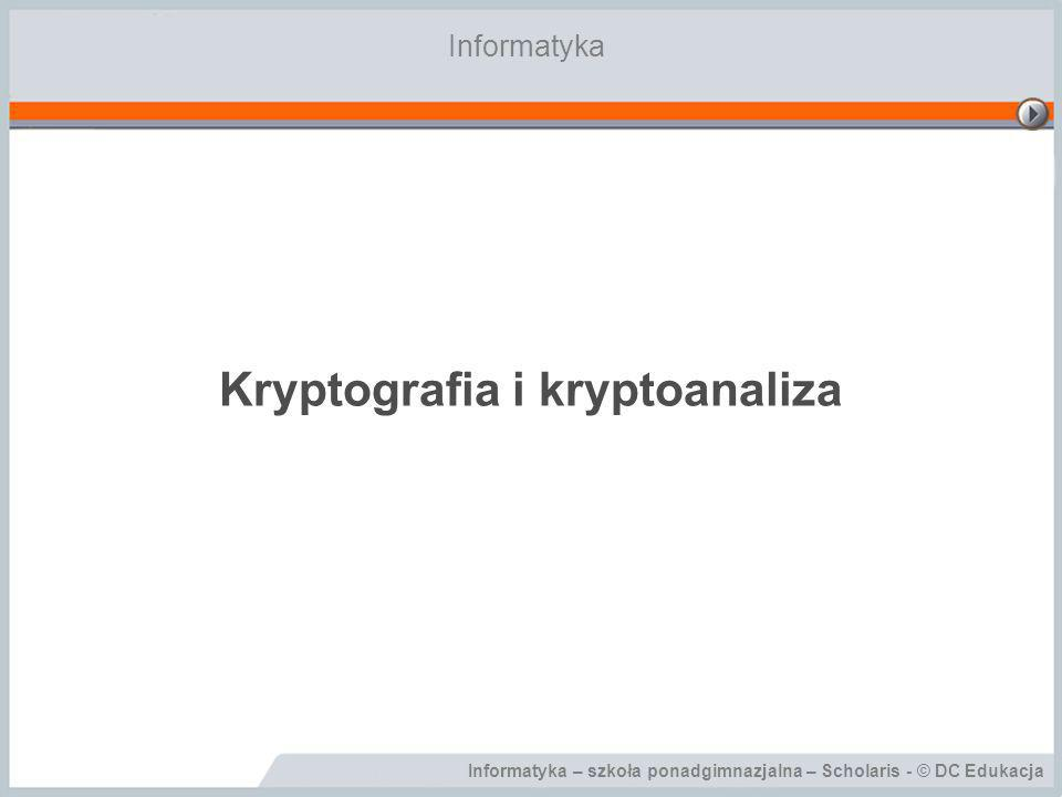 Kryptografia i kryptoanaliza