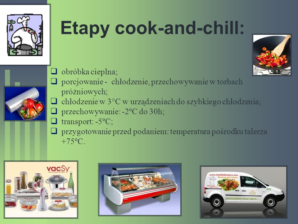 Etapy cook-and-chill: