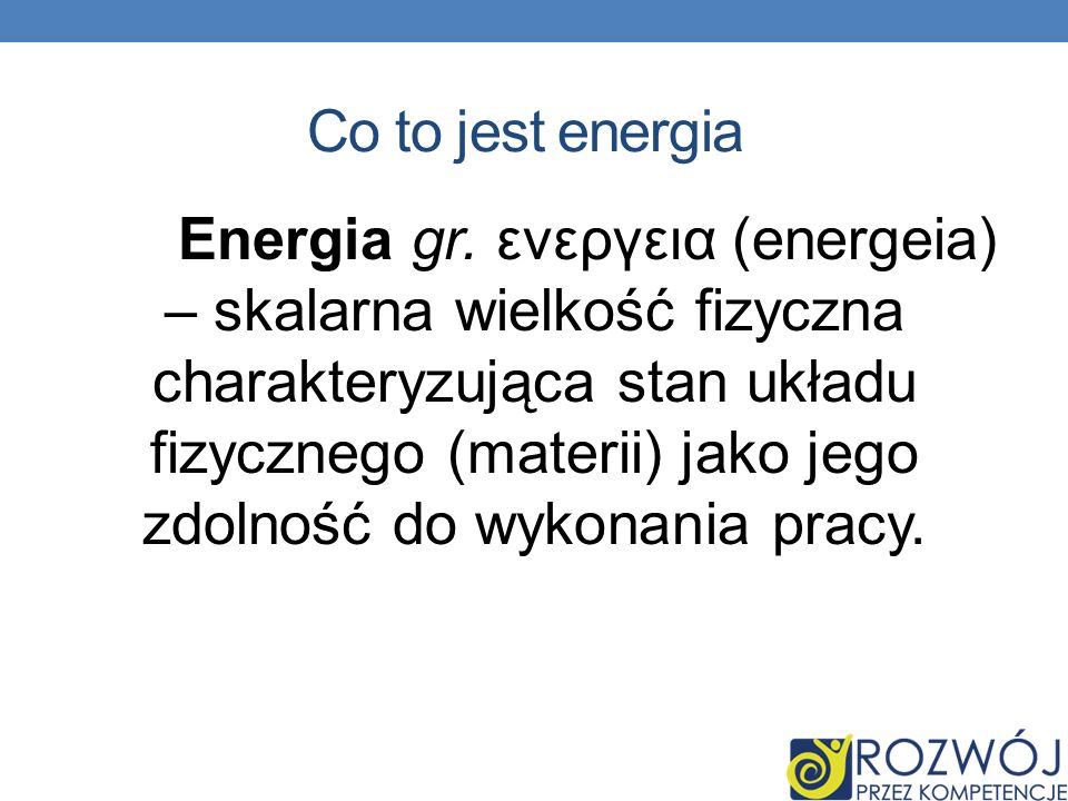 Co to jest energia