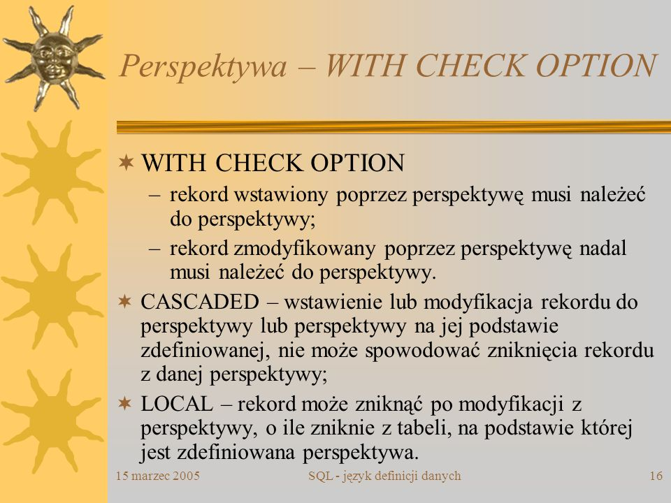 Perspektywa – WITH CHECK OPTION