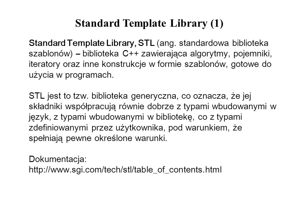 Standard Template Library (1)