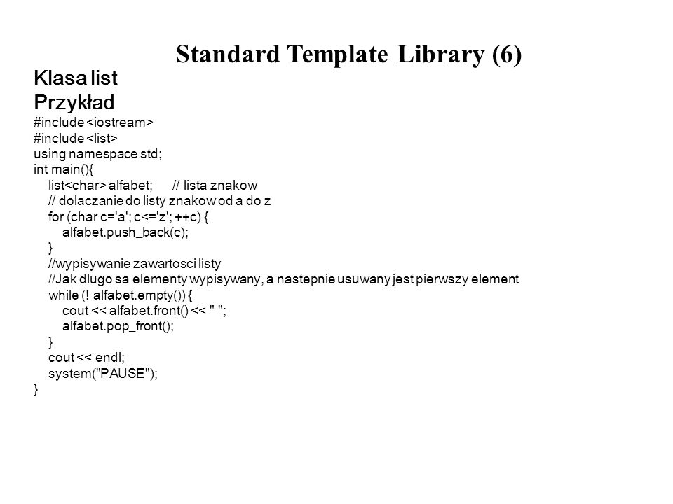 Standard Template Library (6)