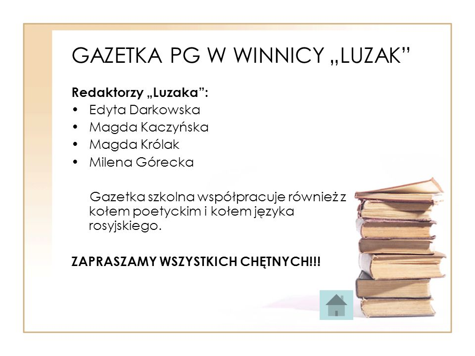 "GAZETKA PG W WINNICY ""LUZAK"