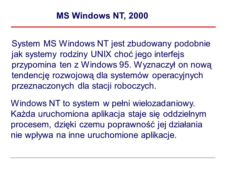 MS Windows NT, 2000