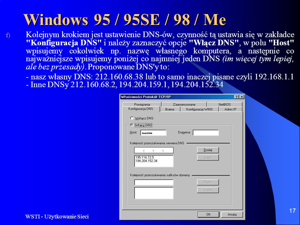Windows 95 / 95SE / 98 / Me