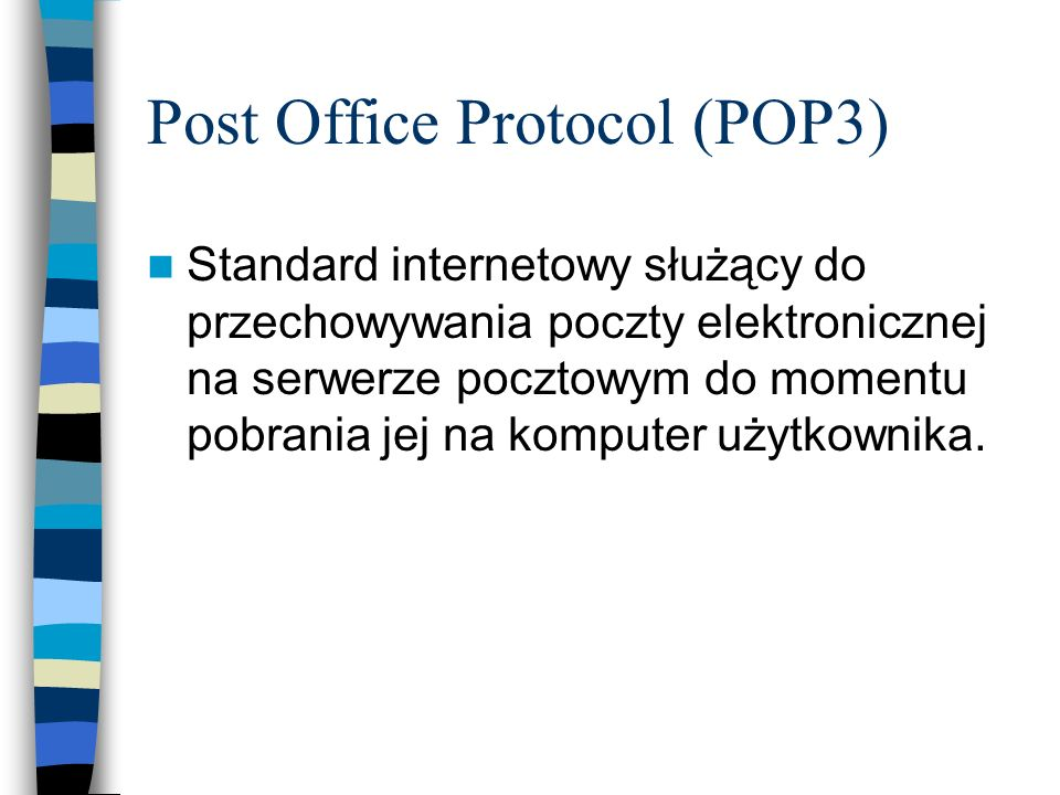 Post Office Protocol (POP3)