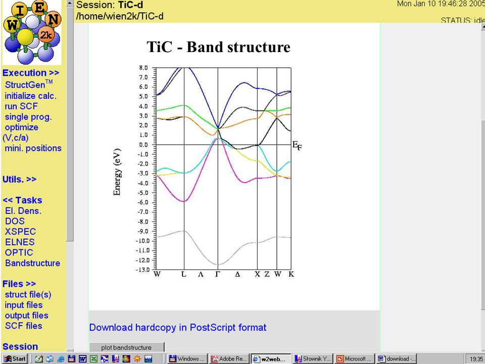 TiC - Band structure